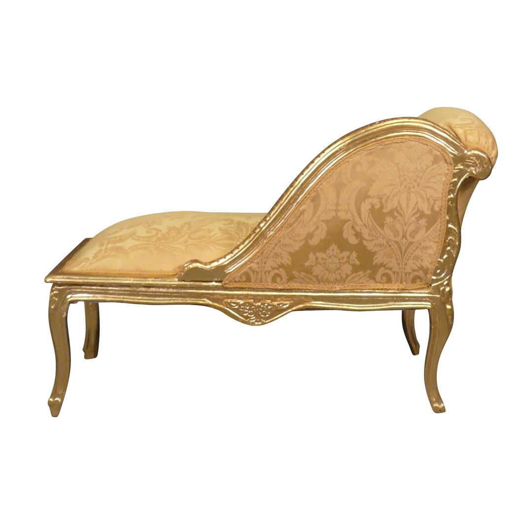 Chaise longue louis xv baroque furniture - Chaise baroque transparente ...