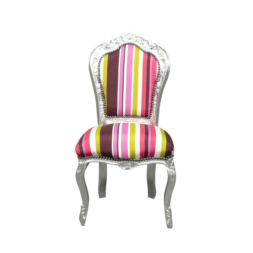 chaise baroque multicolore meuble baroque