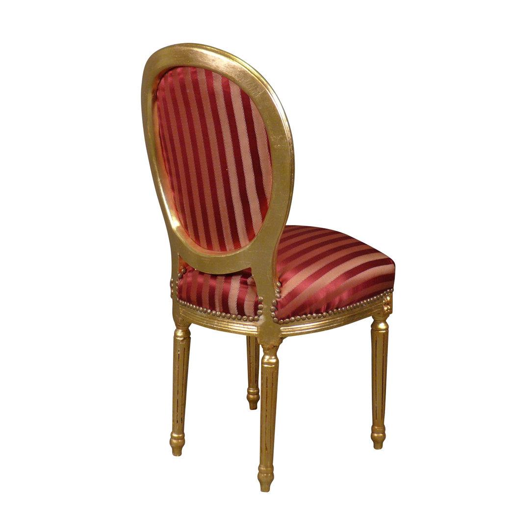 Silla luis xvi rococ rojo asiento barroco - Sillas louis xvi ...