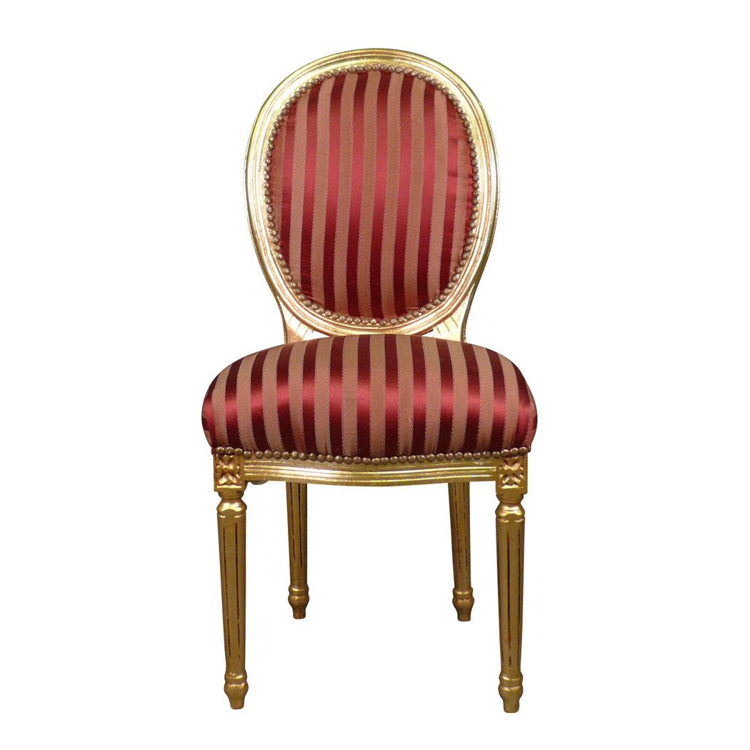Sedia luigi xvi rococo rosso sedia barocco for Chaise louis xvi