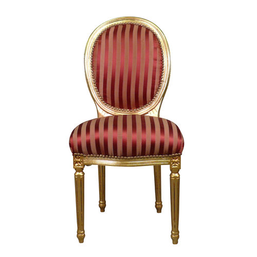 Chaise Louis XVI rouge rococo