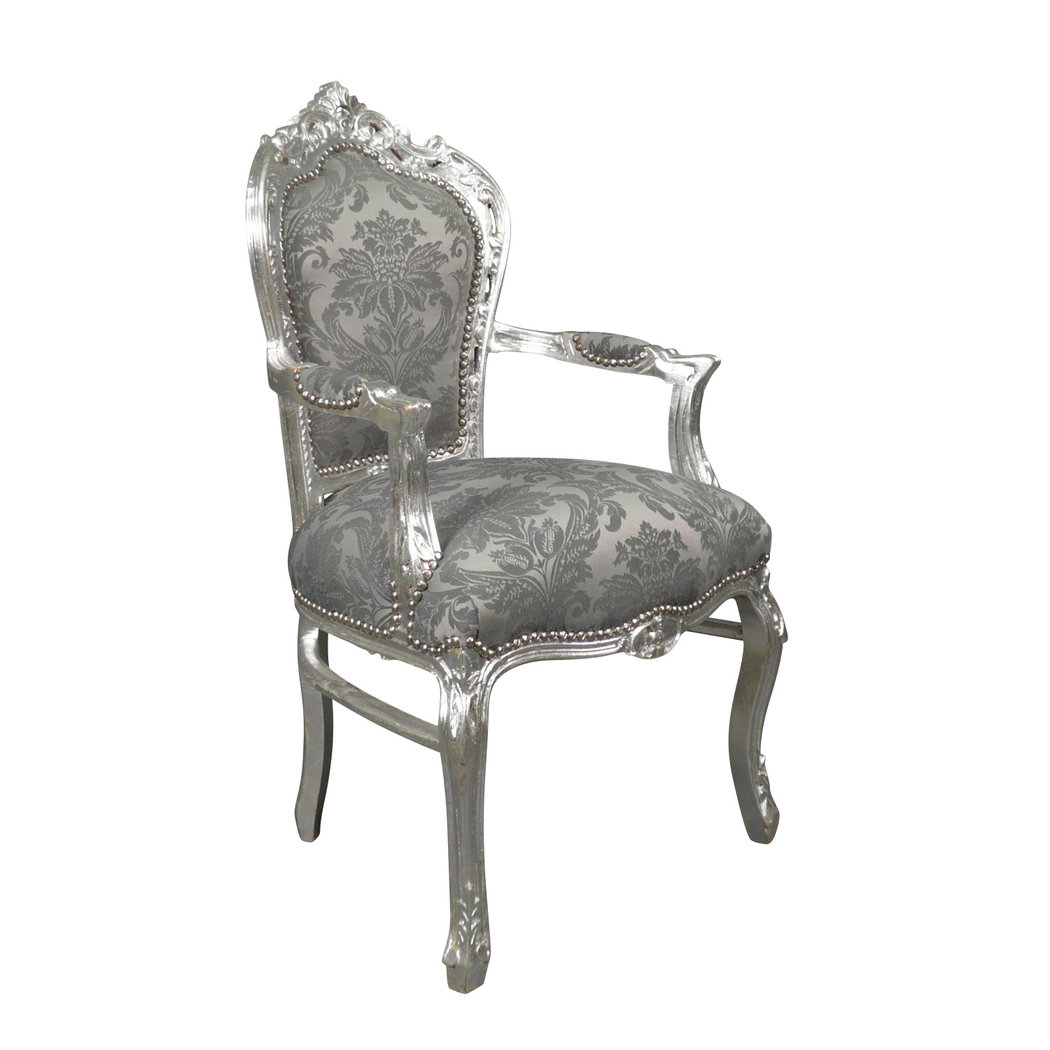 fauteuil baroque argent meuble baroque. Black Bedroom Furniture Sets. Home Design Ideas