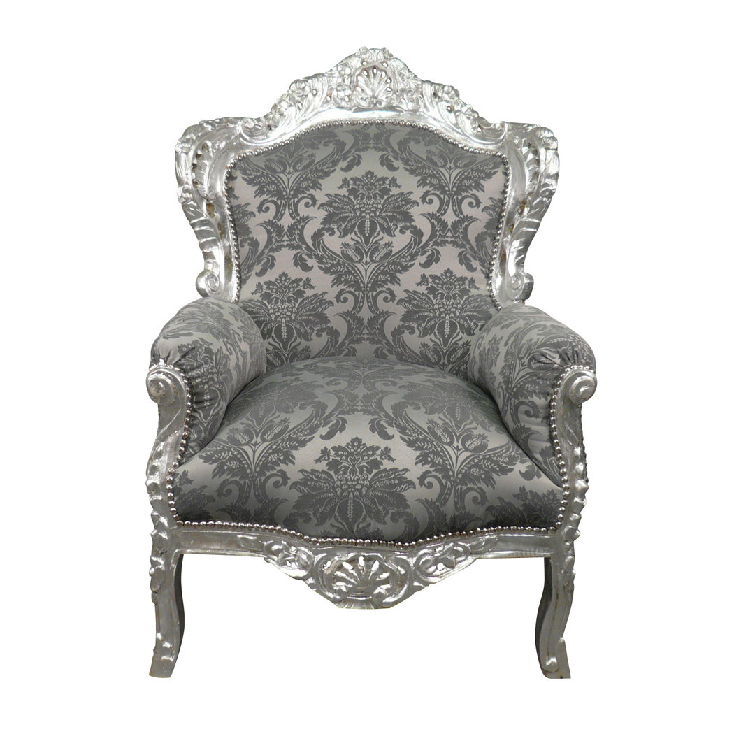 fauteuil baroque argent royal rococo meuble et canap baroque. Black Bedroom Furniture Sets. Home Design Ideas