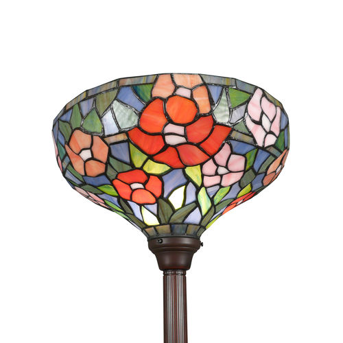 Tiffany floor lamp of rose