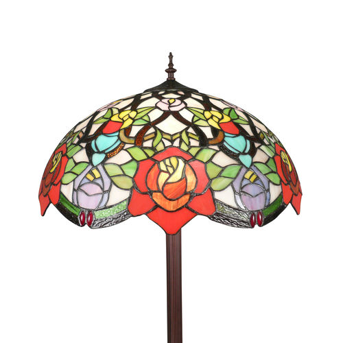 Tiffany floor lamp with roses