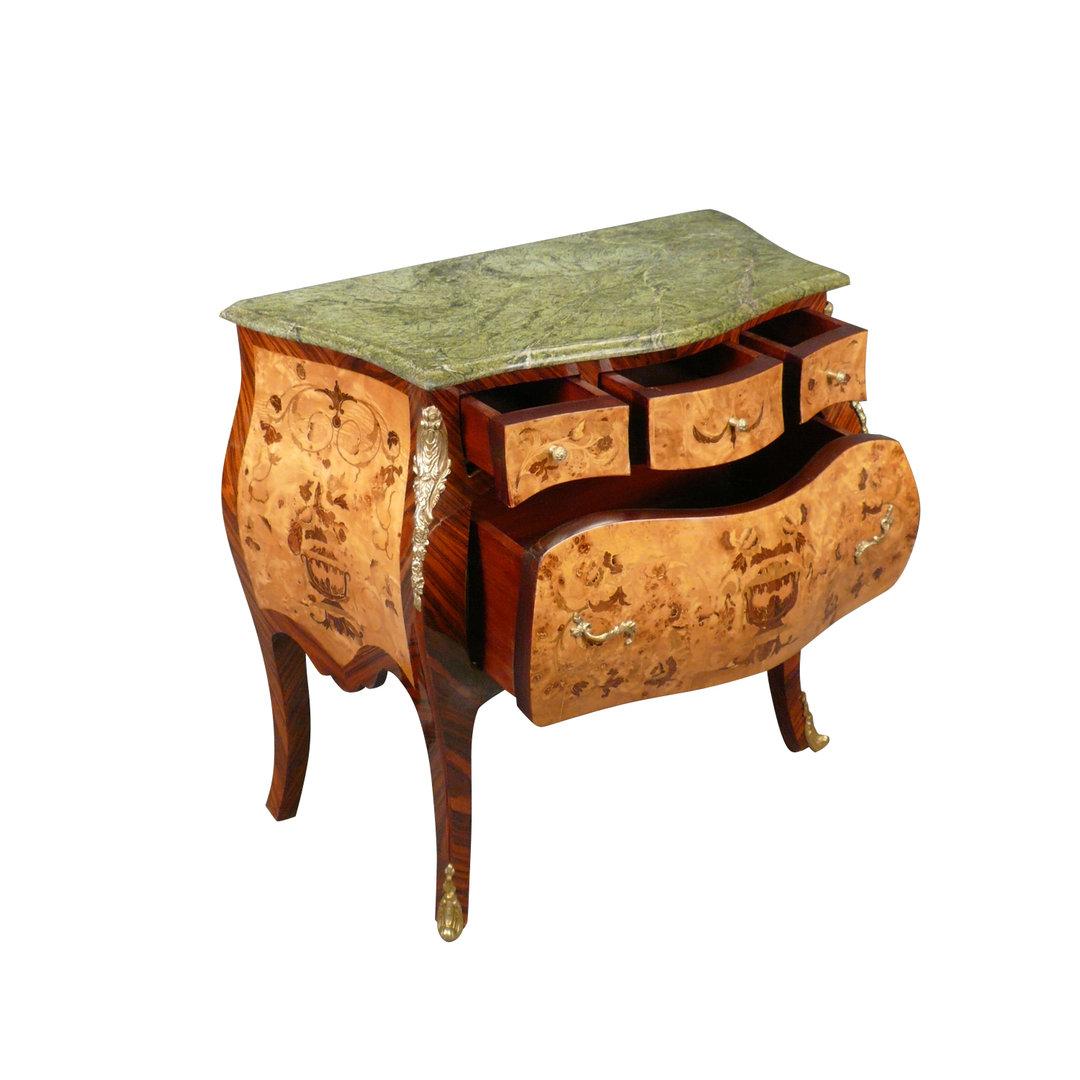 commode louis xv en marqueterie meuble louis 15. Black Bedroom Furniture Sets. Home Design Ideas