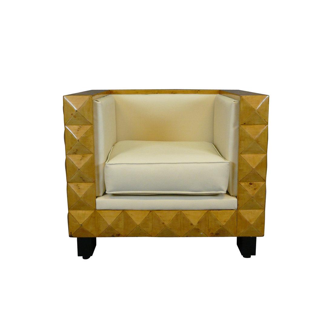 fauteuil art d co cube mobilier art deco. Black Bedroom Furniture Sets. Home Design Ideas