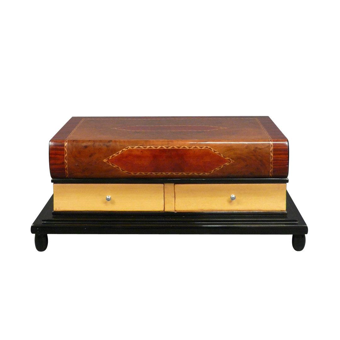 Mesa art deco en forma de libro para el sal n muebles - Mesas de libro para salon ...