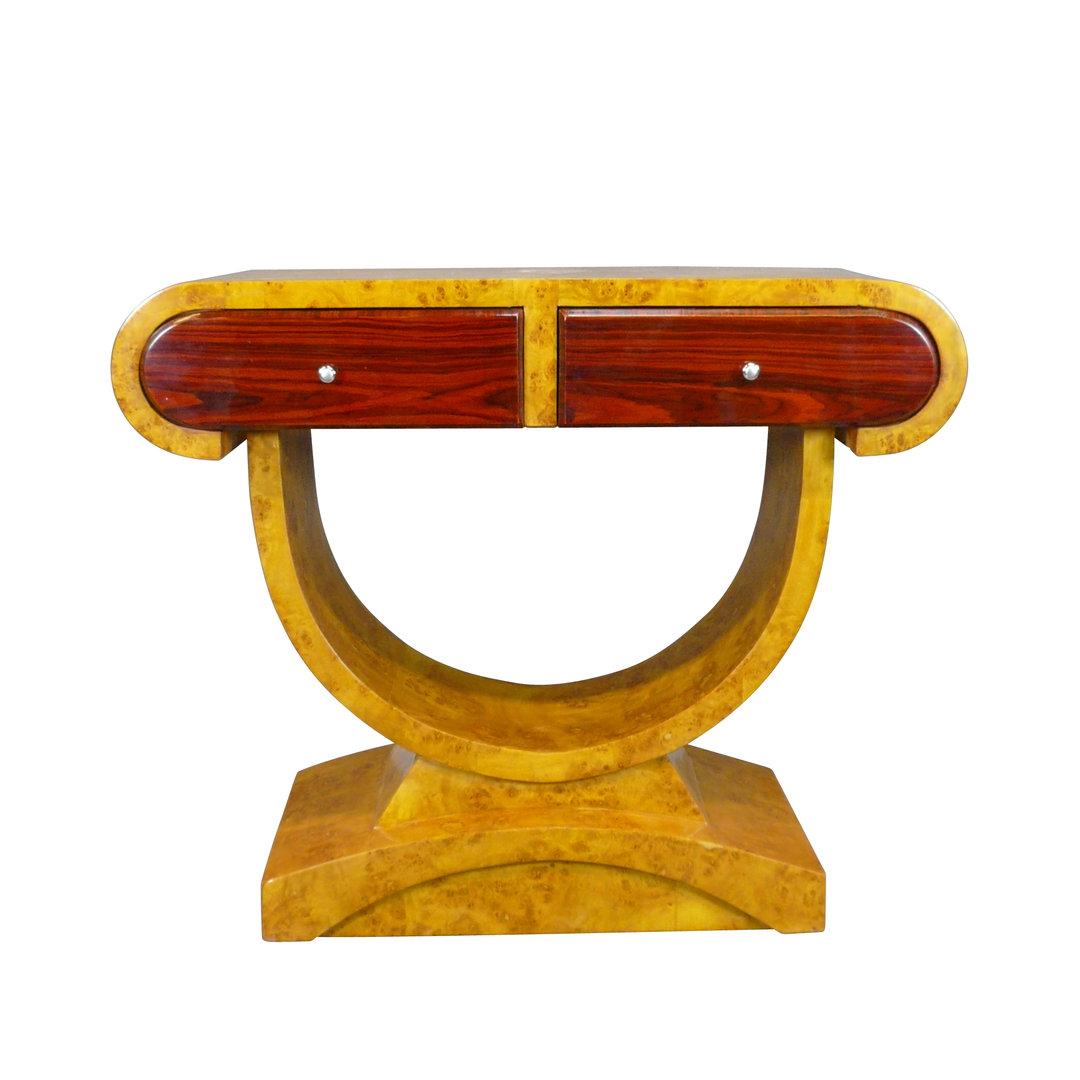 Console art d co deux tiroirs meubles de style art deco - Art deco meuble ...