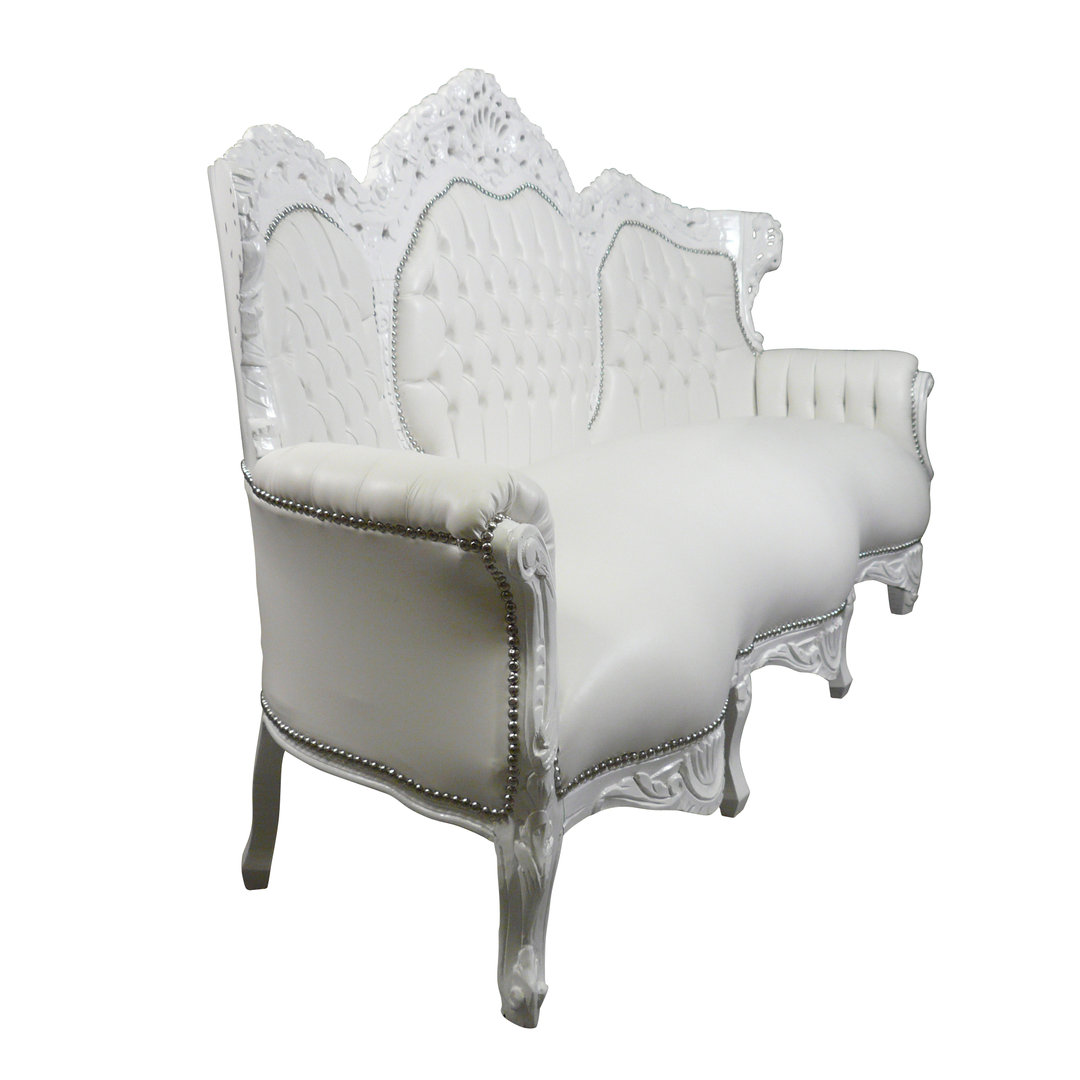 white baroque sofa in imitation leather baroque furniture. Black Bedroom Furniture Sets. Home Design Ideas