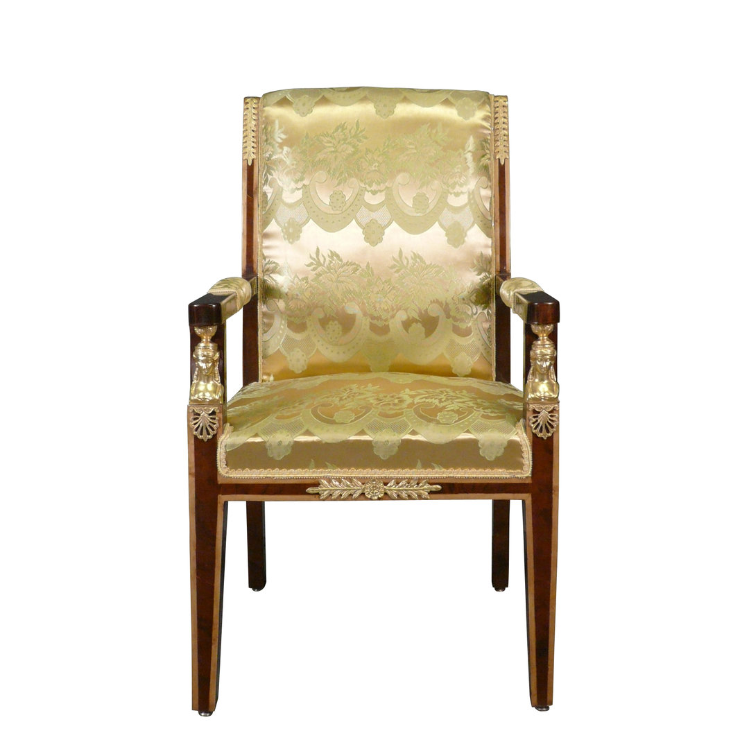 Empire Armchair Mahogany And Gilded Bronzes ...