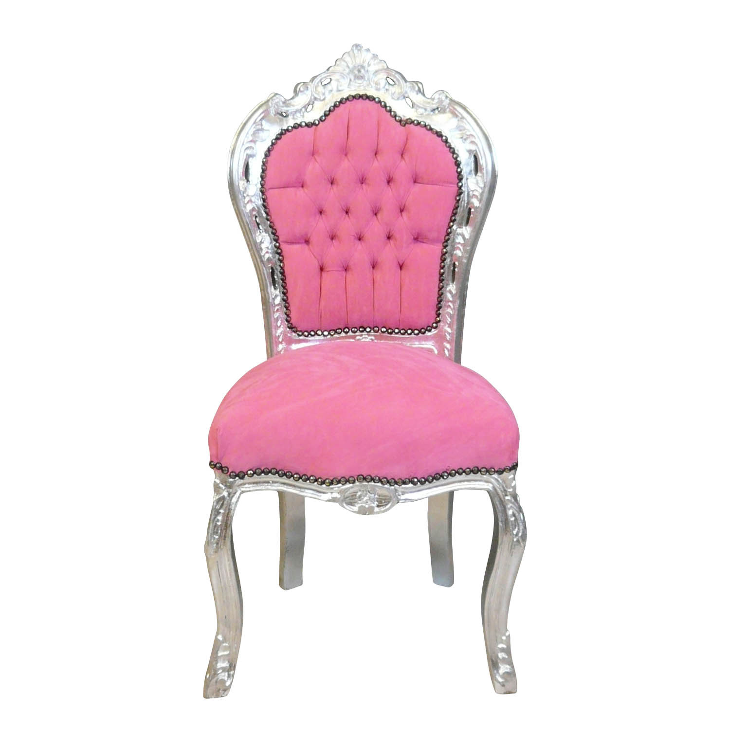 Chaise baroque galerie photo des chaises for Chaise rose