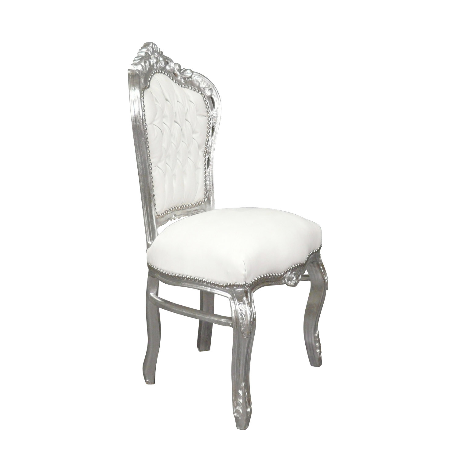 Chaise baroque galerie photo des chaises for Chaise blanche