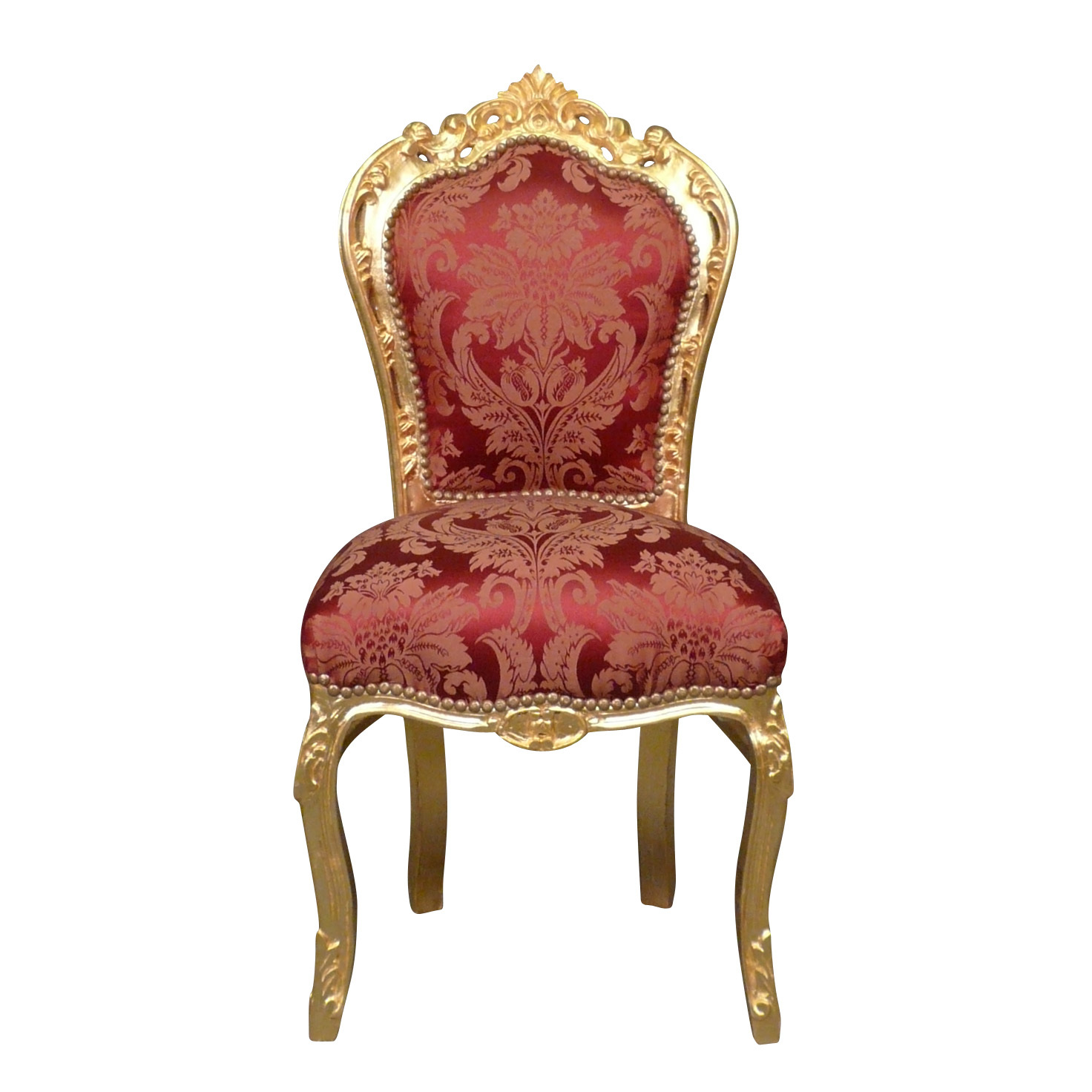 Chaise baroque rouge et or