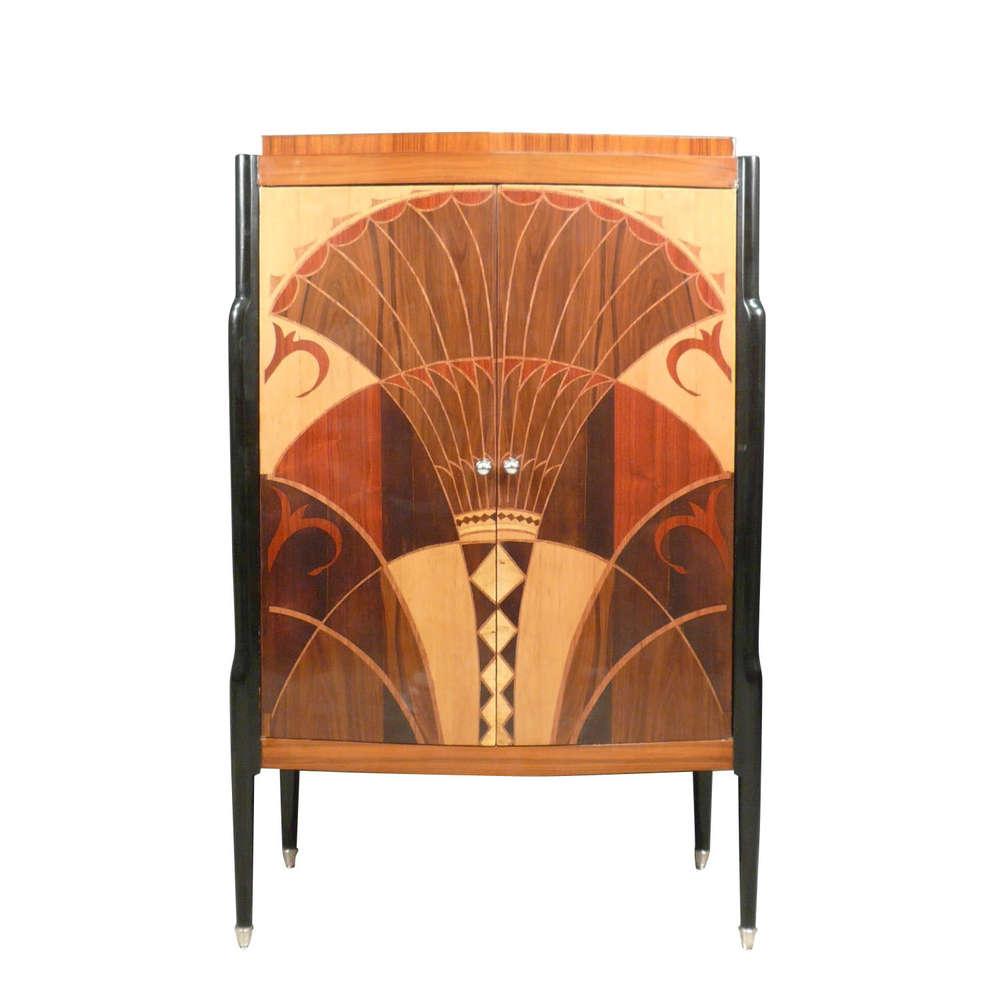 Art Deco Buffet Art Deco # Buffet Metal Rouge
