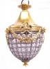 Bronze and crystal chandelier glass style louis XVI