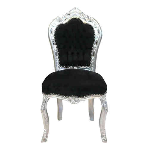 Black baroque chair