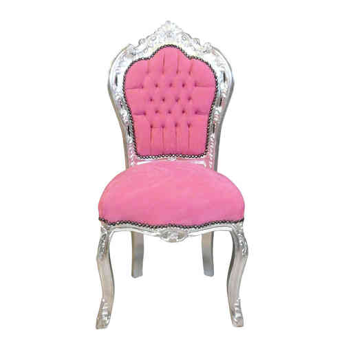 Pink baroque chair
