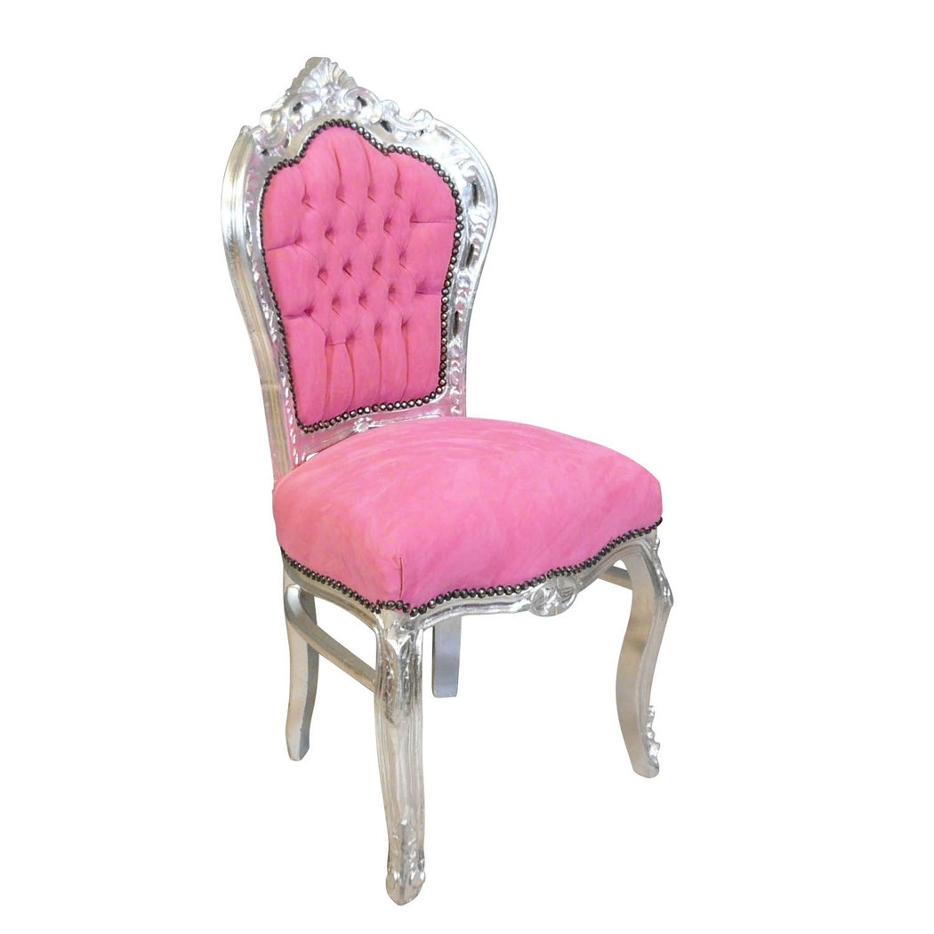 Pink baroque chair baroque furniture - Chaise baroque ...