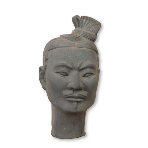 Chinese Warrior Head in Terracotta