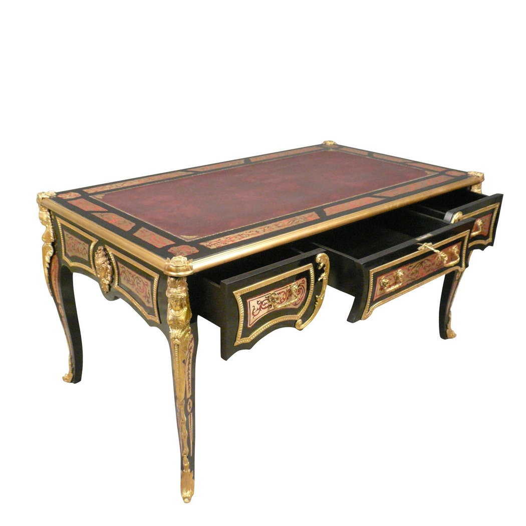 bureau louis xv en marqueterie boulle meubles de style. Black Bedroom Furniture Sets. Home Design Ideas