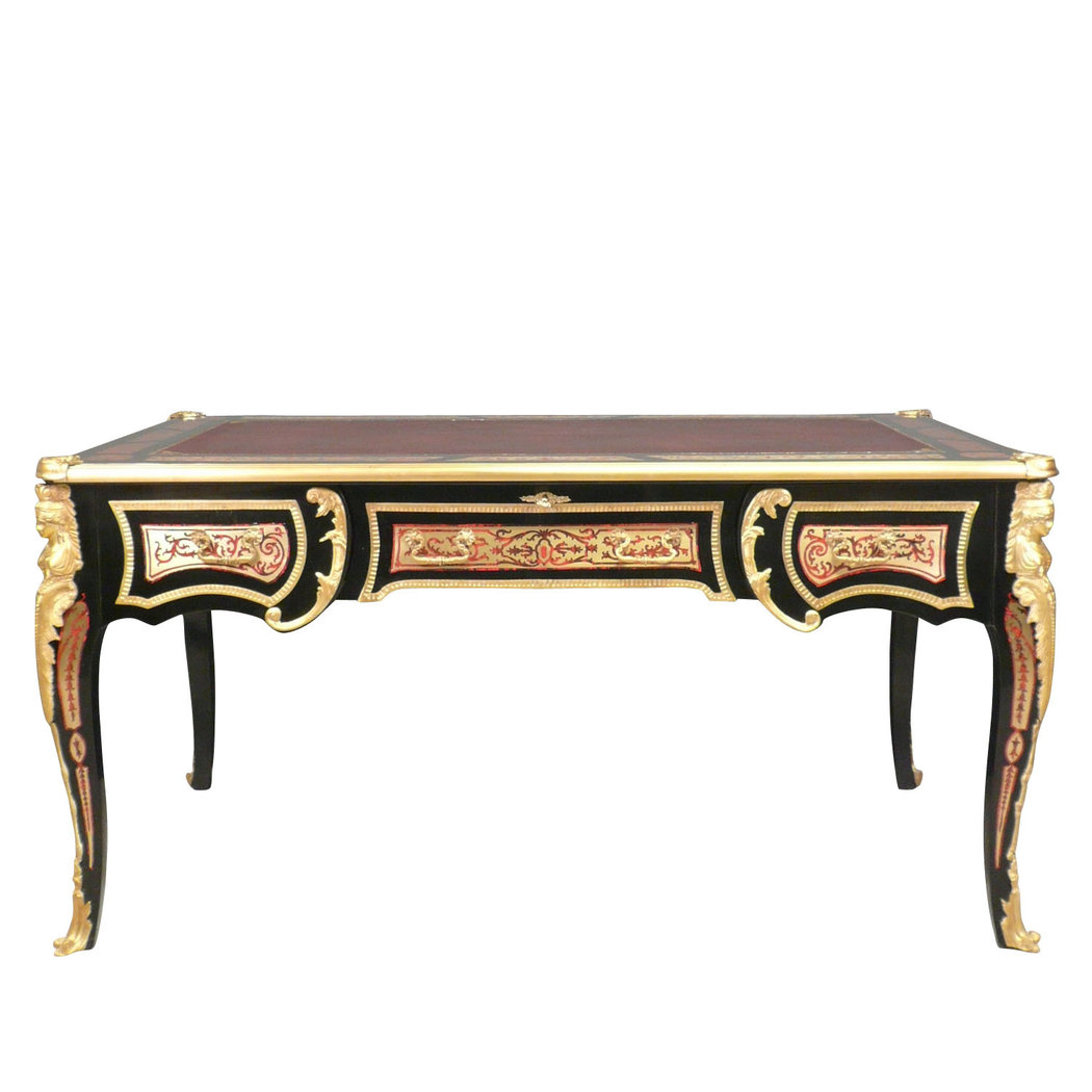 bureau louis xv boulle meuble louis xv louis xv desk in marquetry boulle commode. Black Bedroom Furniture Sets. Home Design Ideas
