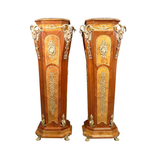 Pair of columns back style of egypt
