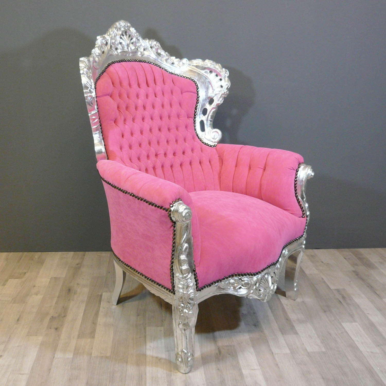 fauteuil baroque rose chaise. Black Bedroom Furniture Sets. Home Design Ideas