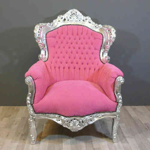 Fauteuil baroque rose