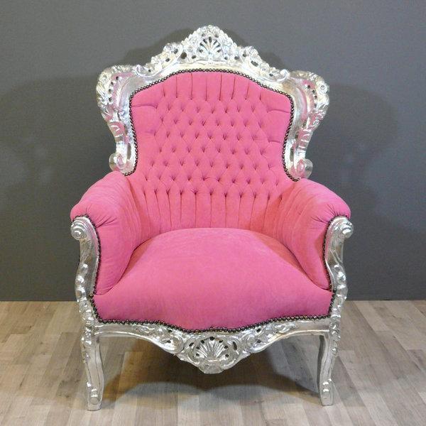 fauteuil baroque rose - Fauteuil Rose Pas Cher