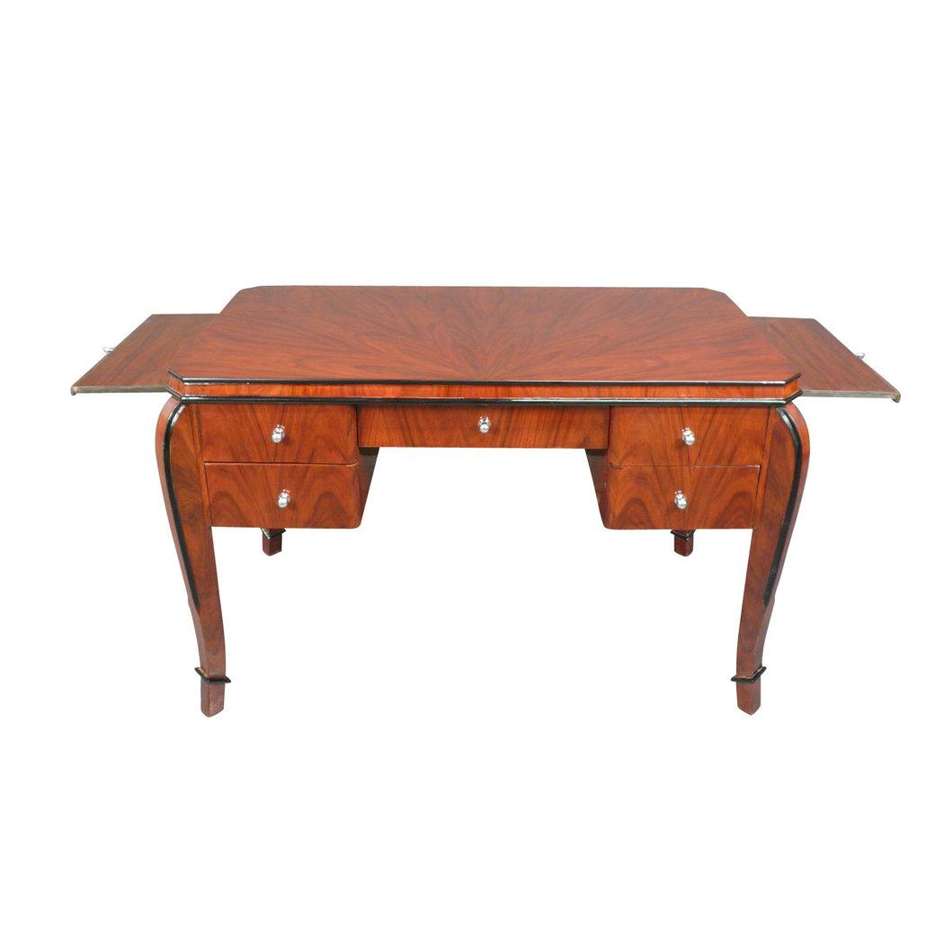 bureau art d co en palissandre avec tablettes meuble art. Black Bedroom Furniture Sets. Home Design Ideas