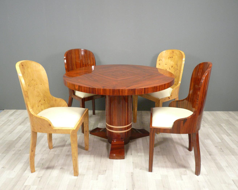 mesa redonda deco art art deco muebles sillones. Black Bedroom Furniture Sets. Home Design Ideas