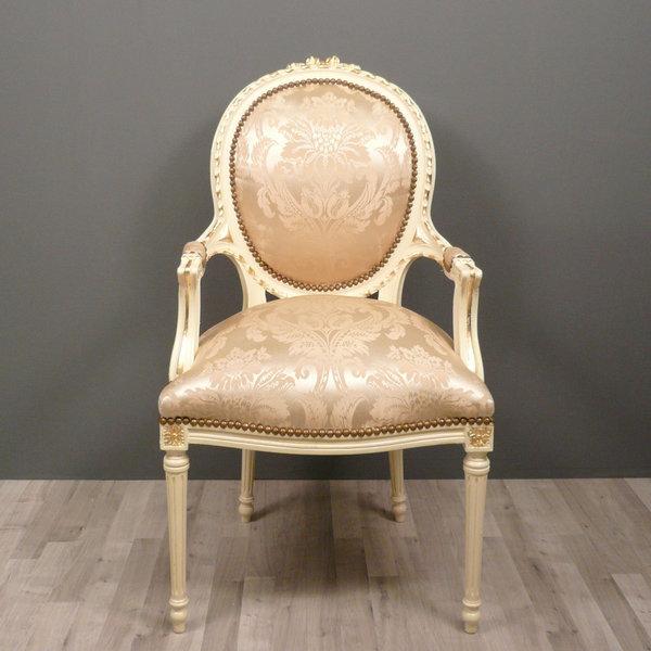 Fauteuil médaillon Louis XVI Chaise baroque