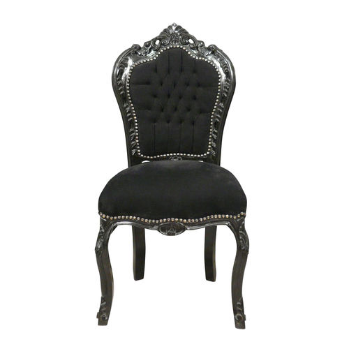 4 chaise baroque noire - Chaise Baroque