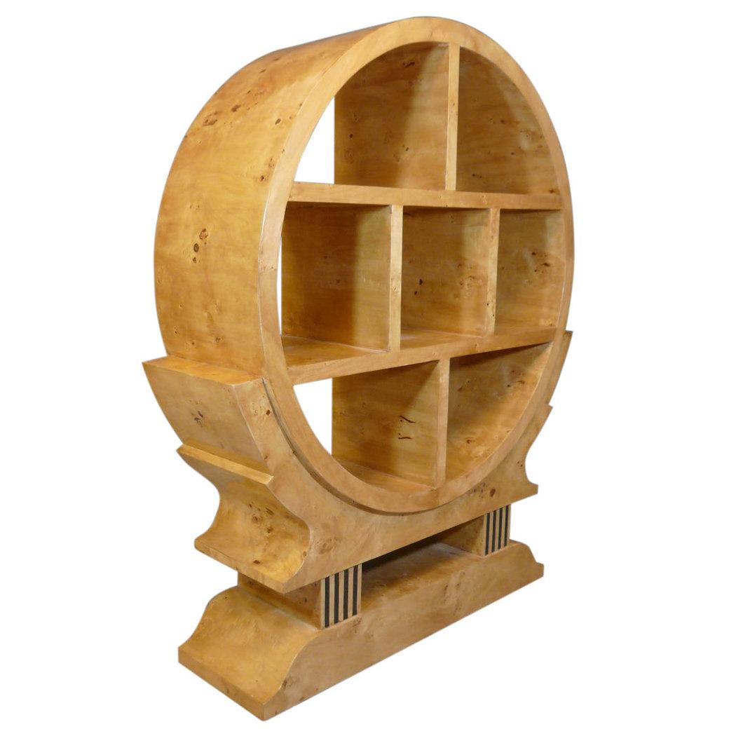 meuble art d co de biblioth que en loupe d 39 orme. Black Bedroom Furniture Sets. Home Design Ideas