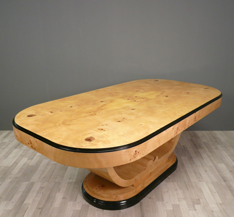 Table art d co en loupe d 39 orme meubles art d co for Table basse en orme