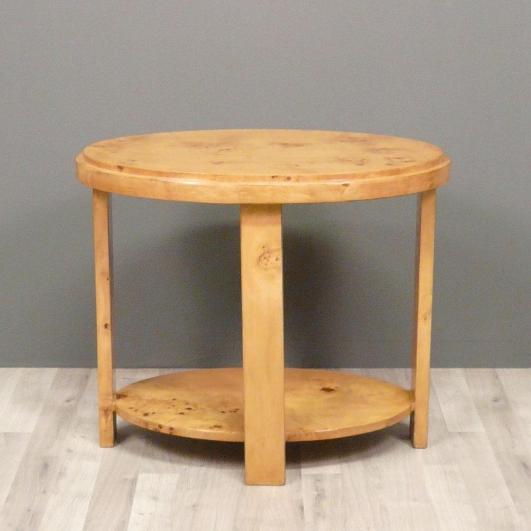 Table art d co en loupe d 39 orme meubles for Table salon art deco