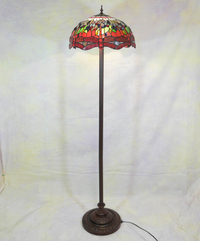 Lamp floor tiffany dragonfly