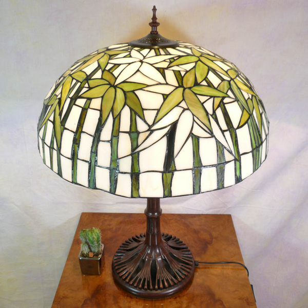Bamboo lamp style tiffany floor lamps for Tiffany bamboo floor lamp