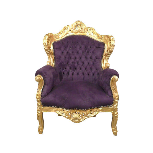 Baroque armchair purple