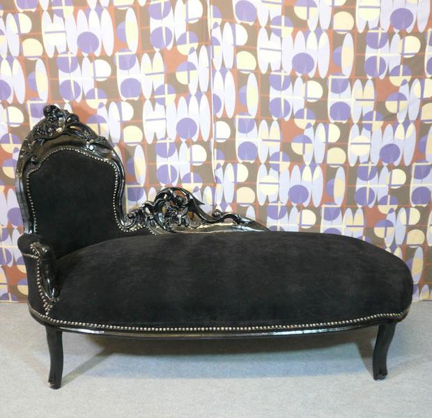 M ridienne baroque noir fauteuils baroques chaises baroques meubles bar - Meridienne style baroque ...