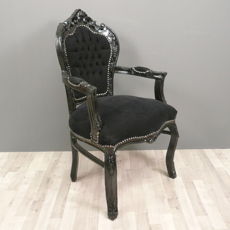Schwarz Barock Sessel Stühle