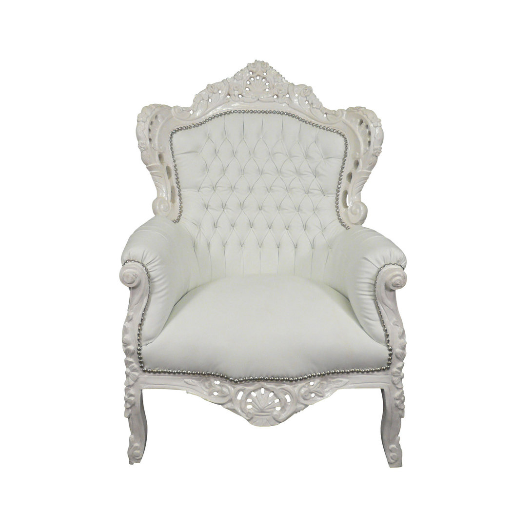 fauteuil baroque blanc fauteuils chaises baroques. Black Bedroom Furniture Sets. Home Design Ideas
