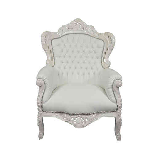 White baroque armchair