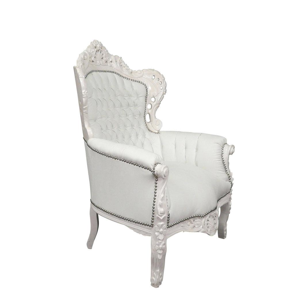 Fauteuil baroque blanc fauteuils chaises baroques - Meridienne baroque pas cher ...