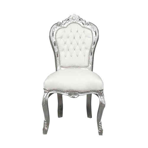 Chaise baroque banche