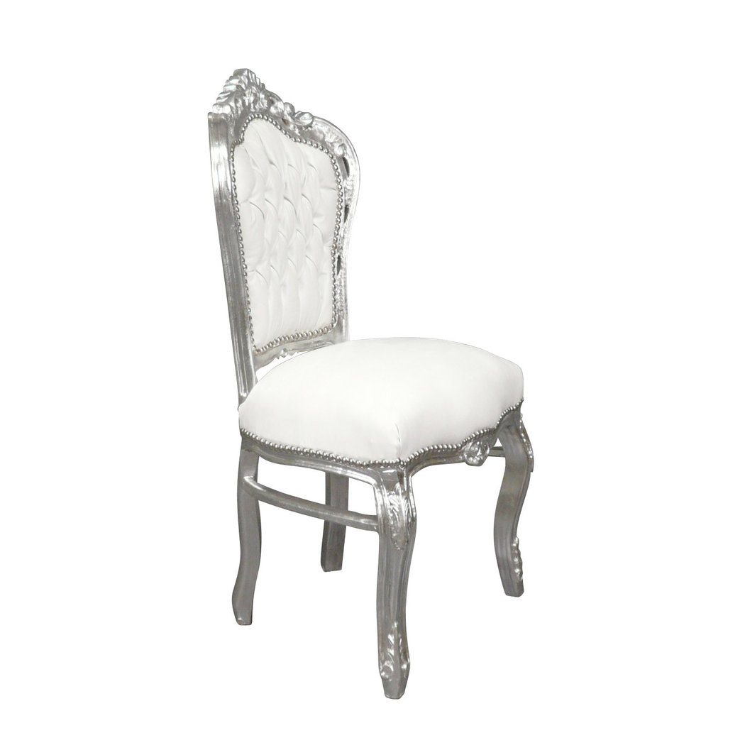 Baroque chair white tiffany lamps bronze statue - Chaise baroque ...