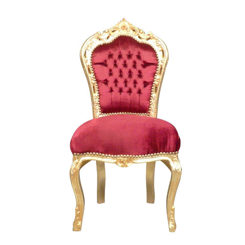 Red baroque chair