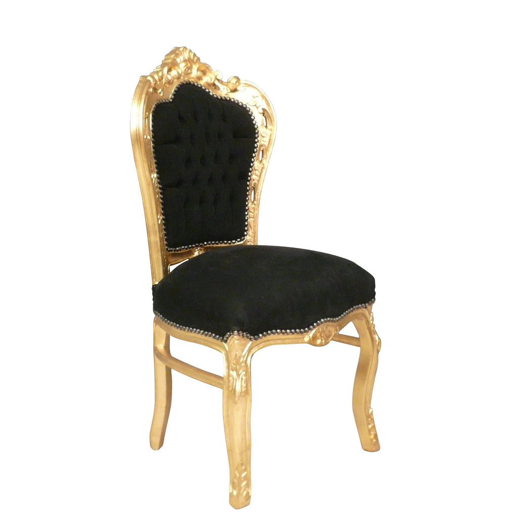 chaise baroque noire et or canap baroque meuble baroque. Black Bedroom Furniture Sets. Home Design Ideas