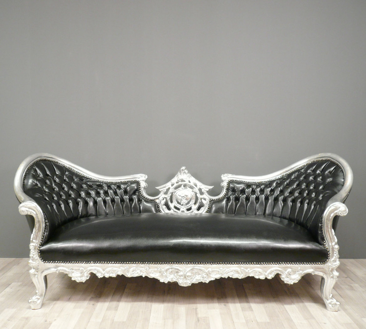 Black Baroque Sofa Armchairs